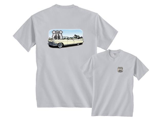 Chevrolet Cadillac White Convertible Texas US Route 66 T-Shirt