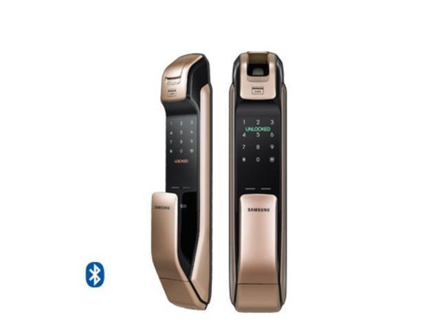 2016 samsung shp dp920 keyless bluetooth fingerprint pull push smart digital door lock. Black Bedroom Furniture Sets. Home Design Ideas