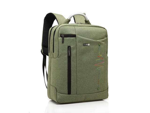 CoolBell 14.4 Inch Waterproof Multi-compartment Computer backpack Nylon Messenger Bag Laptop Sleeve For Notebook,Army Green