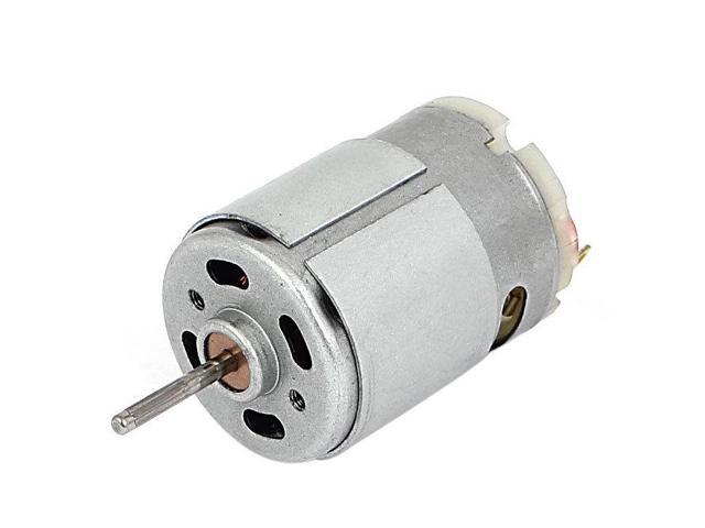 THZY 7100 RPM DC 9V 1.5A 61.2g.cm Micro Motor for Cars DIY Hobbies Silver