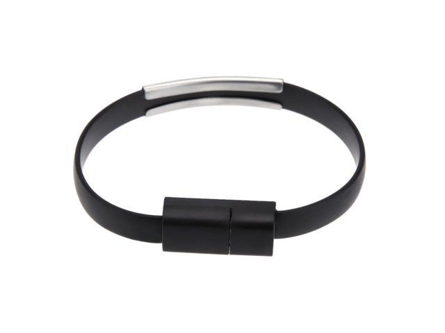 THZY Micro USB 2.0 Charging Data Sync form wrist strap cable for Samsung HTC Smartphone MP3 MP4 Black