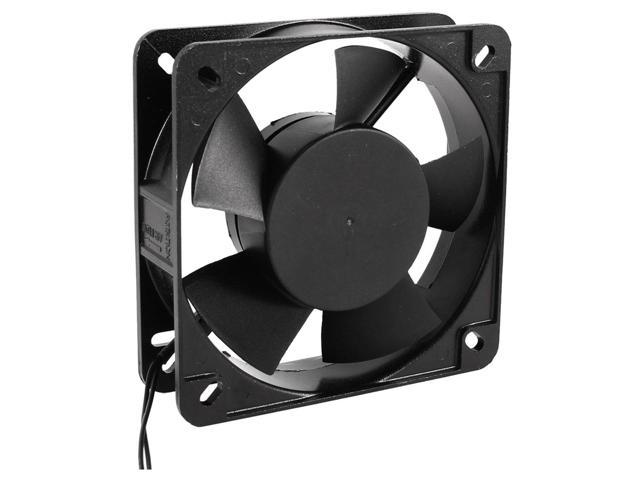 THZY 135mm x 38mm 2 Wire Case Cooling Fan Black AC 220V-240V 50/60Hz 0.08A