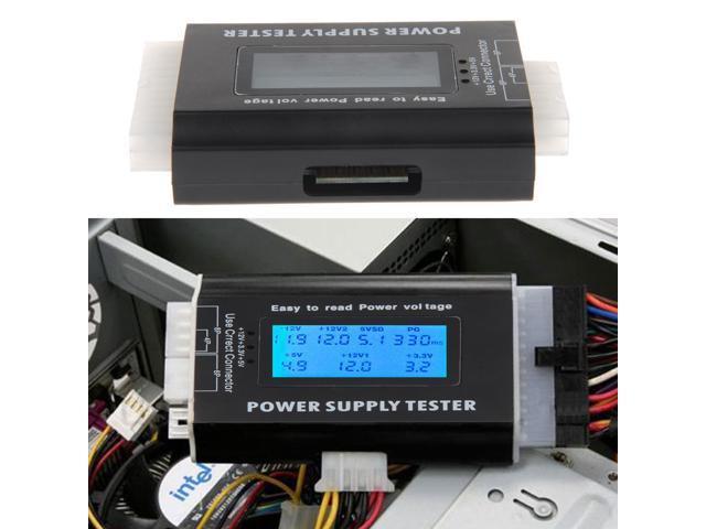 New Digital LCD PC Computer Power Supply Tester 20/24 Pin 4 PSU ATX ...