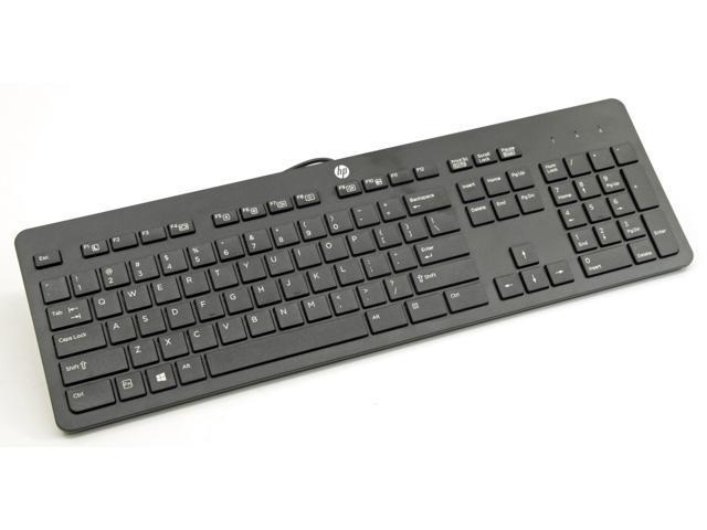 NEW HP Genuine USB Wired Black Keyboard KU1469 SK2120