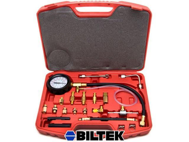 Biltek® 0-140 PSI Fuel Injection Pump Injector Tester Test Pressure Gauge Gasoline Cars