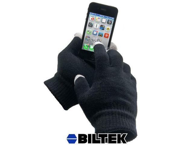 Biltek® Black Magic Touch Screen Gloves Hand Warmer Unisex for iPhone 4 4S 5 SmartPhones Android Tablets GPS Touchscreen Texting Mittens iGlove
