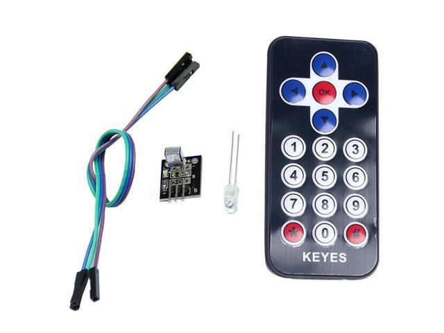 Infrared Remote Control Module IR Receiver Module DIY Kit for Arduino