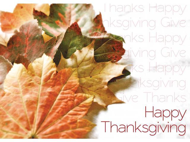 Thanksgiving greeting cards th1501 business greeting card thanksgiving greeting cards th1501 business greeting card featuring autumn leaves with repeating thanksgiving messages m4hsunfo Choice Image