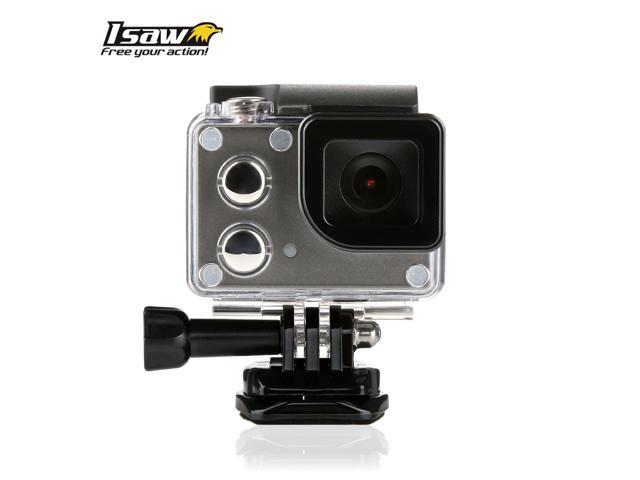 ISAW WING Full HD 1080P Action Camera with LCD Viewfinder Built-in Wi-Fi + Free ISAW Viewer II App
