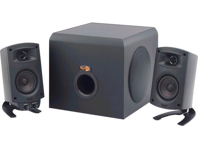 klipsch promedia 2 1 thx certified computer speaker system black. Black Bedroom Furniture Sets. Home Design Ideas