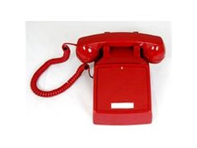 Cortelco 250047-VBA-NDL No Dial 2500 Assembled in USA  Red