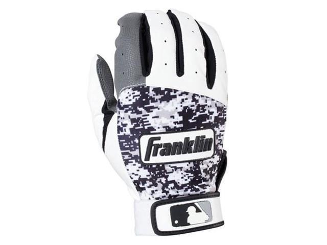 Franklin Sports 21060F4 Digitek Digi Adult Large Batting Gloves, Gray & White & Black