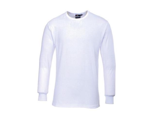 Portwest Thermal TShirt Long Sleeve - Regular, White, Size L