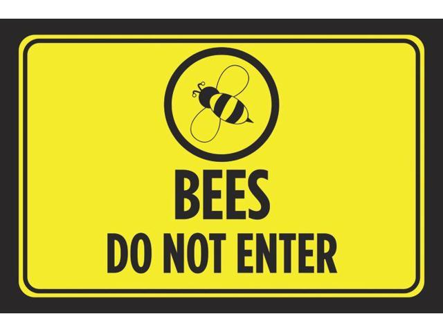 Bees Do Not Enter Print Bright Yellow Notice Black Picture ...