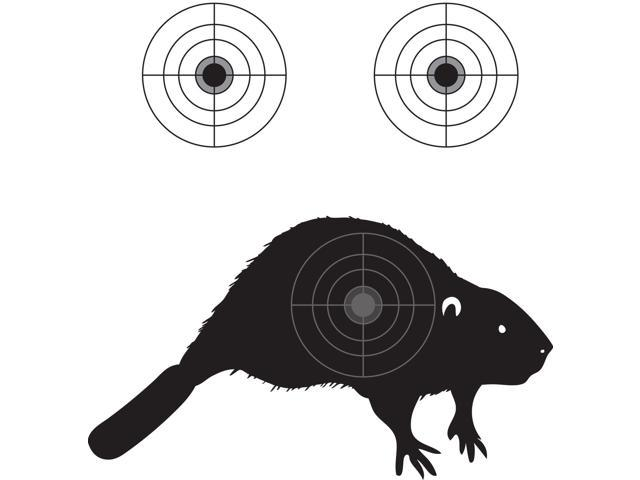 100 Pack - Small Beaver Shooting Target Small Caliber Targets