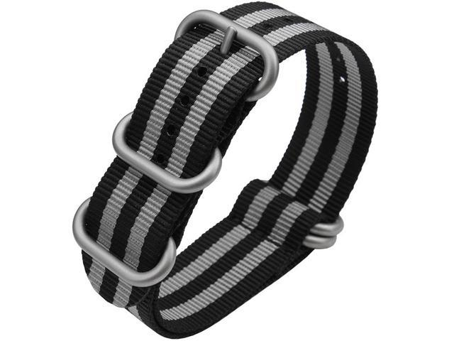 BUREI Multicolor Unisex Nylon Watch Band Of Stainless Steel Buckle 18|20|22mm