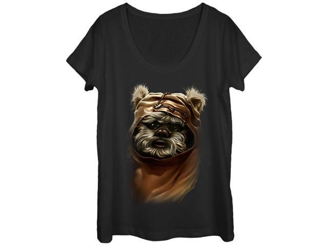Star Wars Wicket Ewok Womens Graphic Scoop Neck