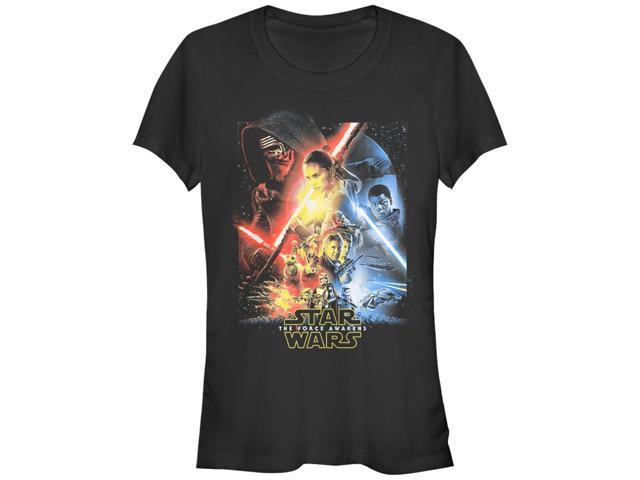 Star Wars Episode VII Cool Poster Juniors Graphic T Shirt