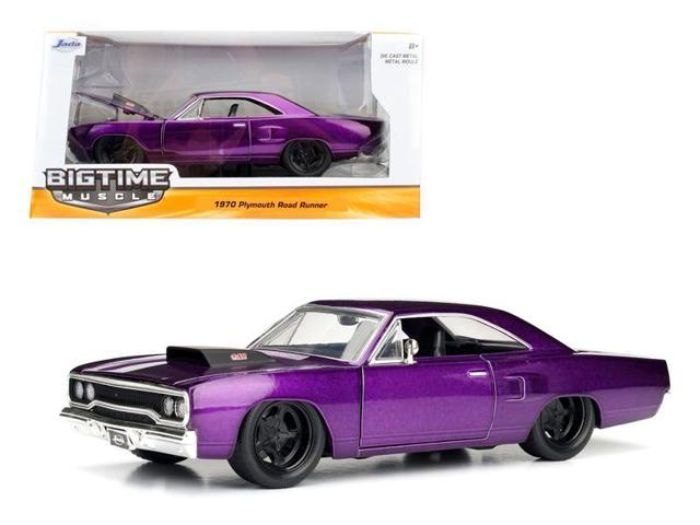 1970 Plymouth Road Runner Purple 1/24 Diecast Model Car by Jada