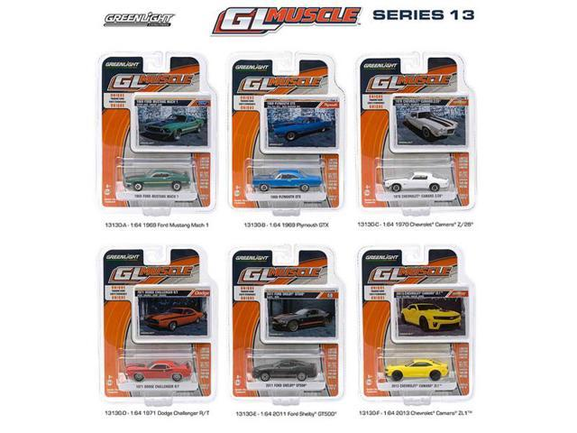 Greenlight Muscle / Release 13, 6pc Diecast Car Set 1/64 by Greenlight