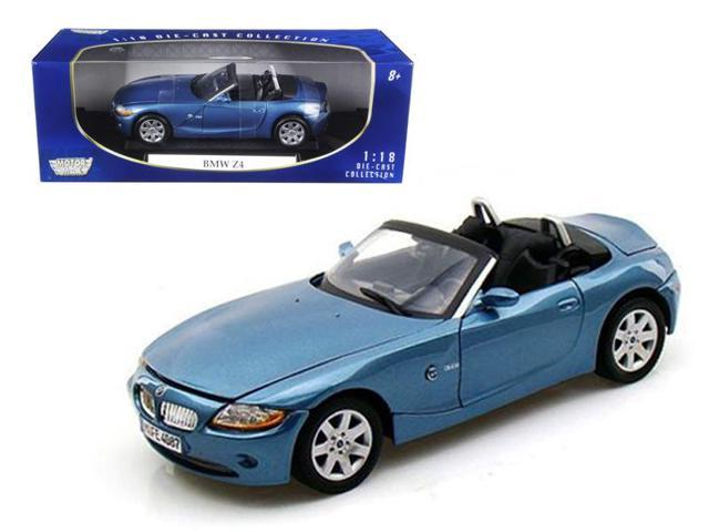 BMW Z4 Convertible Blue 1/18 Diecast Model Car by Motormax