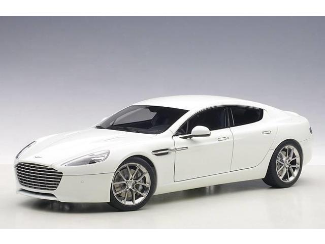2017 Aston Martin Rapide S Stratus White 1 18 Cast Model Car By Autoart