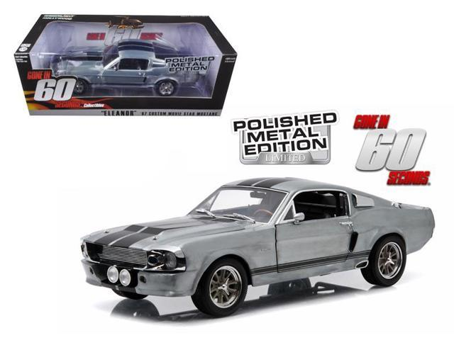 1967 Ford Mustang Eleanor Gone in 60 Seconds Movie (2000) Polished Metal Limited Edition 1/18 Diecast Car by Greenlight