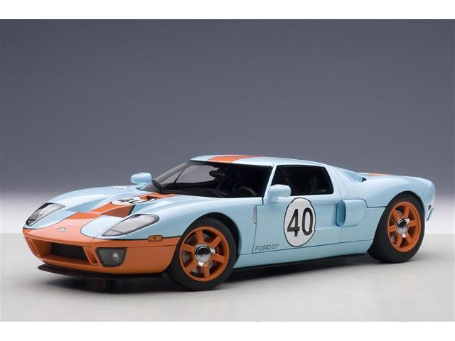 Ford Gt Gulf Livery  Blue With Orange  Cast Model Car