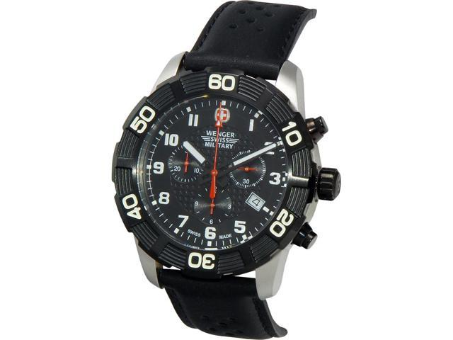 Wenger Mens Roadster Chronograph Black PVD Black Dial 79215