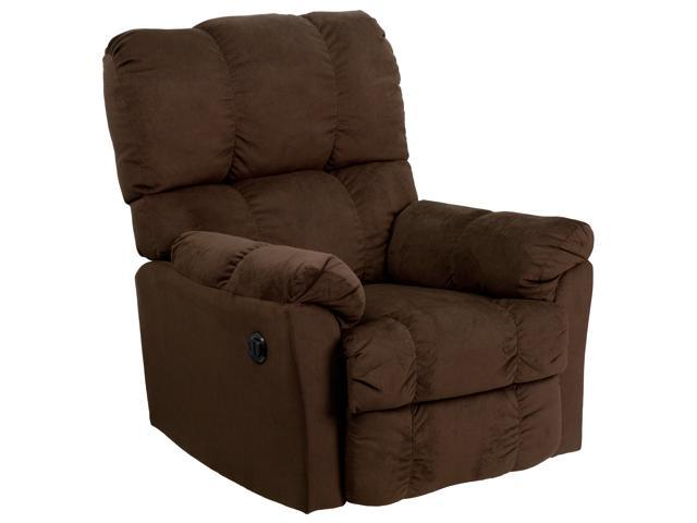 Flash Furniture Contemporary Top Hat Chocolate Microfiber Power Recliner [AM-P9320-4171-GG]