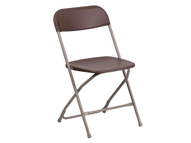 Flash Furniture Hercules Series 800 Lb. Capacity Premium Brown Plastic Folding Chair [LE-L-3-Brown-GG]