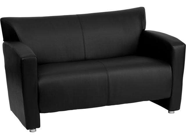 Flash Furniture HERCULES Majesty Series Black Leather Love Seat [222-2-BK-GG]