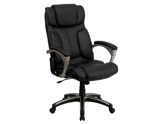 Flash Furniture High Back Folding Black Leather Executive Office Chair