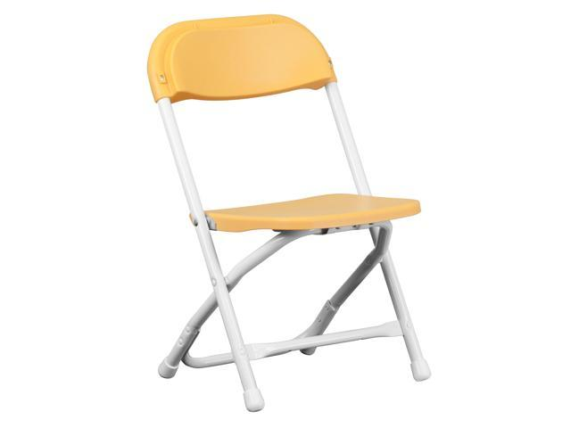 Flash Furniture Kids Yellow Plastic Folding Chair [Y-KID-YL-GG]