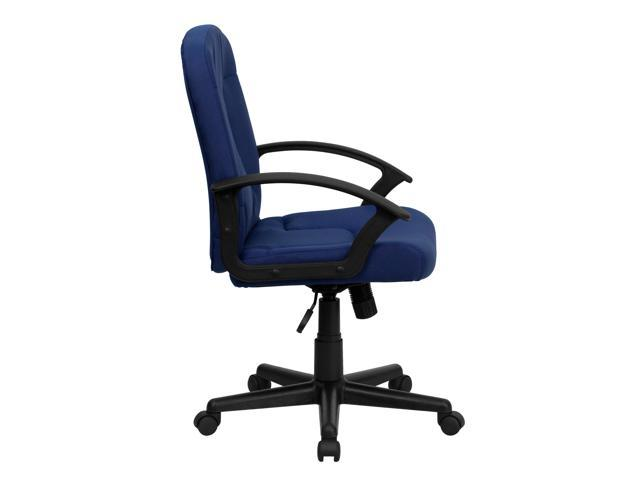 Flash Furniture Mid-Back Navy Fabric Task and Computer Chair with Nylon Arms [GO-ST-6-NVY-GG]