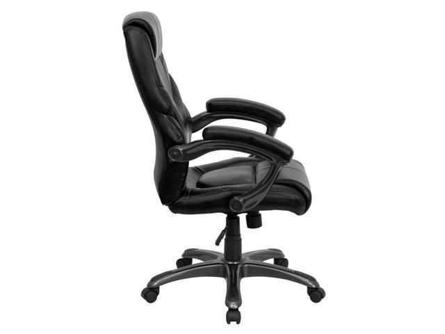 Flash Furniture High Back Black Leather Overstuffed Executive Office Chair [GO-724H-BK-LEA-GG]