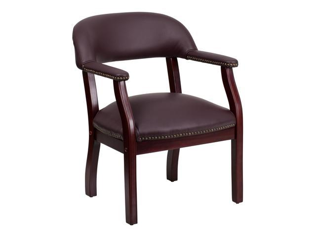 Flash Furniture Burgundy Leather Luxurious Conference Chair [B-Z105-LF19-LEA-GG]