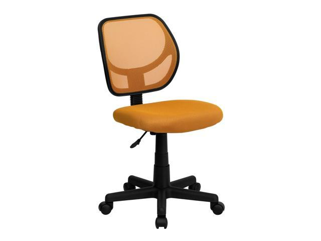 Flash Furniture Mid-Back Orange Mesh Task Chair and Computer Chair [WA-3074-OR-GG]
