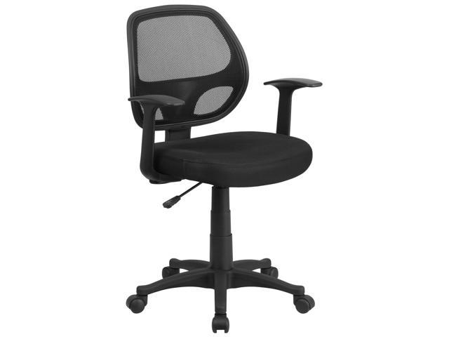 Flash Furniture Mid-Back Black Mesh Computer Chair [LF-W-118A-BK-GG]