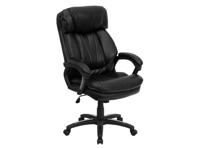 Flash Furniture HERCULES Series High Back Black Leather Executive Office Chair [GO-1097-BK-LEA-GG]
