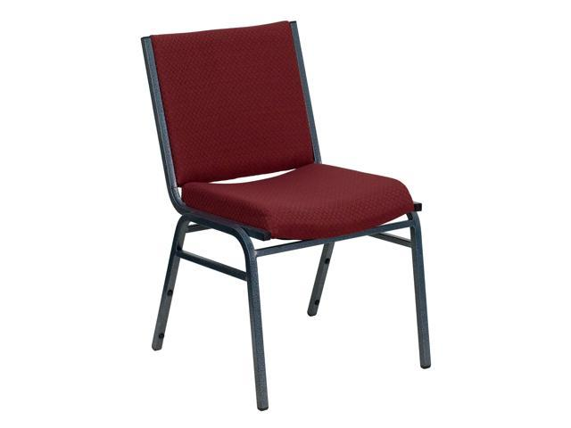 Flash Furniture HERCULES Series Heavy Duty, 3'' Thickly Padded, Burgundy Patterned Upholstered Stack Chair [XU-60153-BY-GG]