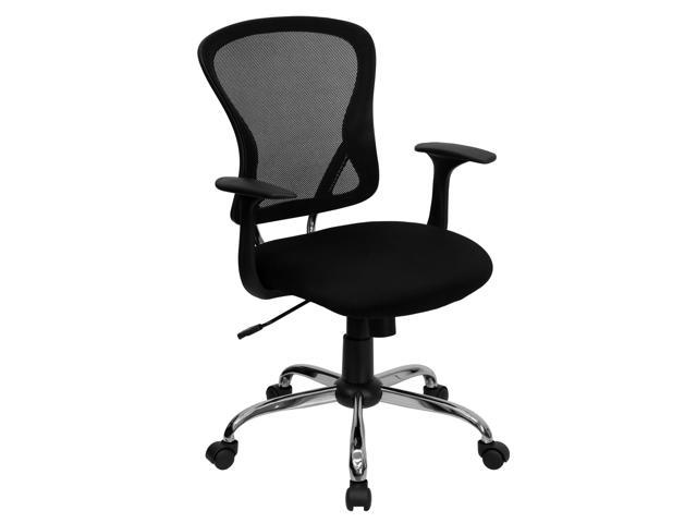 Flash Furniture Mid-Back Black Mesh Office Chair with Chrome Finished Base [H-8369F-BLK-GG]