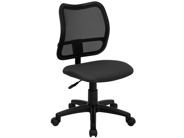 Flash Furniture Mid-Back Mesh Task Chair with Gray Fabric Seat [WL-A277-GY-GG]