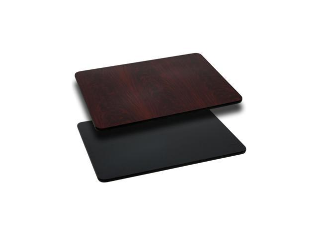 Flash Furniture 24'' x 30'' Rectangular Table Top with Black or Mahogany Reversible Laminate Top [XU-MBT-2430-GG]
