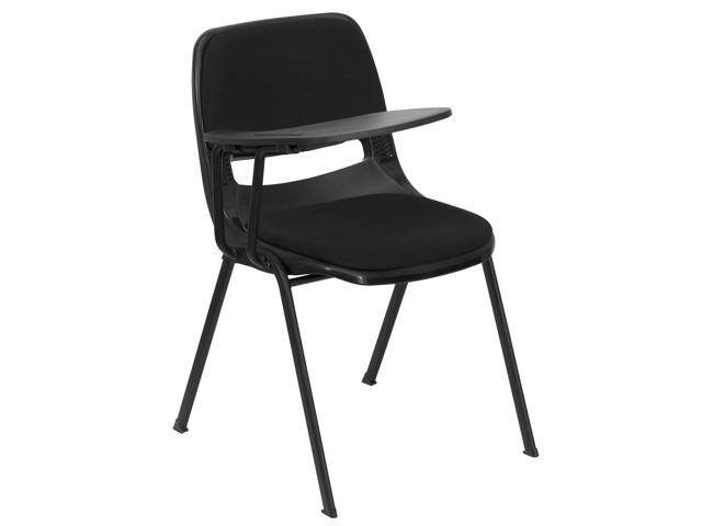 Flash Furniture Padded Black Ergonomic Shell Chair with Right Handed Tablet Arm [RUT-EO1-01-PAD-RTAB-GG]