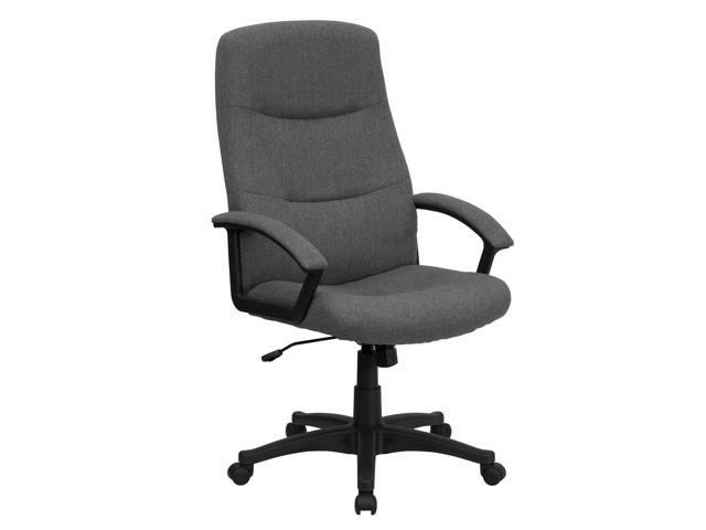 Flash Furniture High Back Gray Fabric Executive Swivel Office Chair [BT-134A-GY-GG]