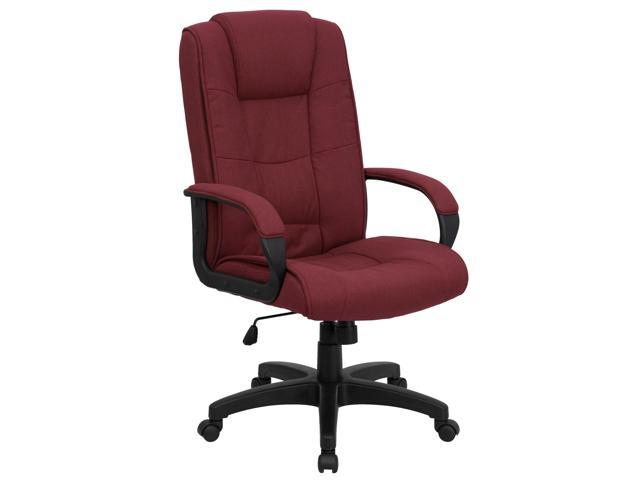 Flash Furniture High Back Burgundy Fabric Executive Office Chair [GO-5301B-BY-GG]