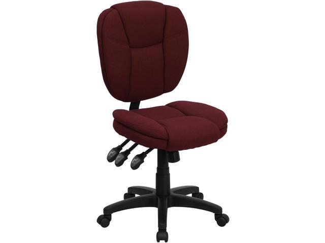 Flash Furniture Mid-Back Burgundy Fabric Multi-Functional Ergonomic Task Chair [GO-930F-BY-GG]