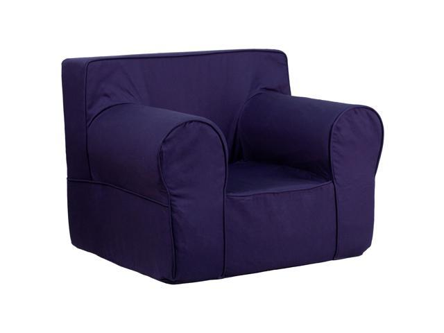 Oversized solid navy blue kids chair for Oversized kids chair