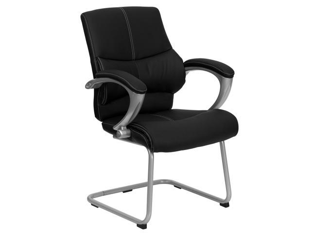 Flash Furniture Black Leather Executive Side Chair [H-9637L-3-SIDE-GG]